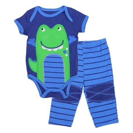 Buster Brown Onesie With Green Alligator With Matching Pants Houston Kids Fashion Clothing