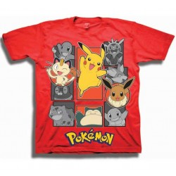 Pokemon Red Character Boys Short Sleeve T Shirt