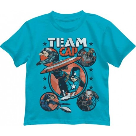 Marvel Comics Captain America Civil War Turquoise Team Cap Boys Shirt Houston Kids Fashion Clothing Store