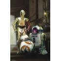 Disney Star Wars The Force Awaken BB8 R2D2 & 3CPO Droid Poster