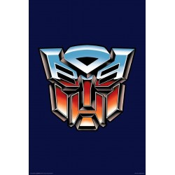 Transformers Two Color Autobot Logo Wall Poster