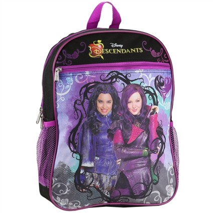 Disney Descendants Mal And Purple Evie Kids School Backpack