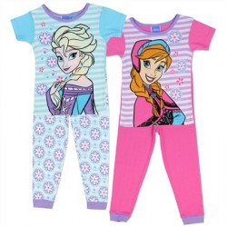 Disney Frozen Anna and Elsa Blue and Pink 2 Pack Pajama Set