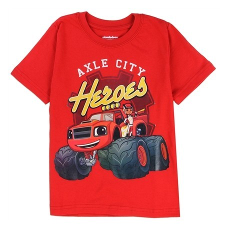 Nick Jr Blaze And The Monster Machines Axle City Boys T Shirt