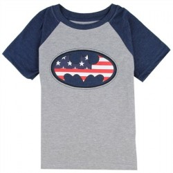 DC Comics Batman Red White And Blue Bat Signal Boys Shirt