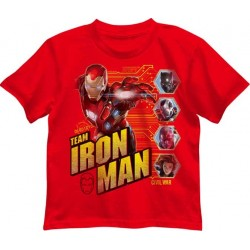 Marvel Comics Captain America Civil War Team Iron Man Red Boys Shirt Houston Kids Fashion Clothing Store
