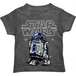 Disney Star Wars R2D2 Charcoal Heather Toddler Boys Shirt
