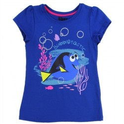 Disney Finding Dory Royal Blue Bubbletastic Girls Shirt