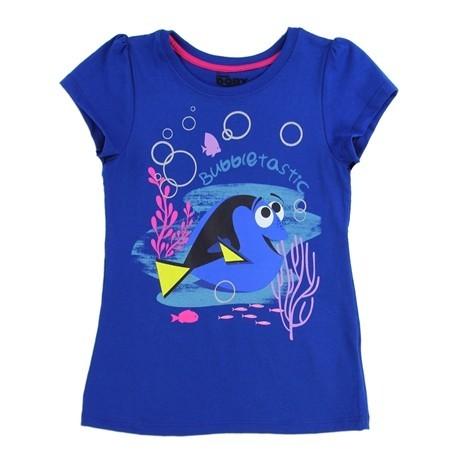 Disney Pixar Finding Dory Royal Blue Bubbletastic Girls Shirt