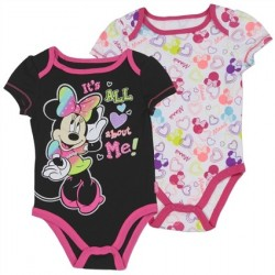 Disney Minnie Mouse It's All About Me 2 Piece Onesie Set