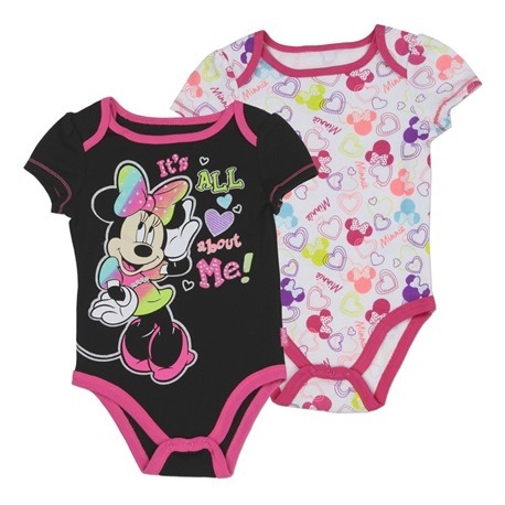Disney Minnie Mouse It's All About Me 2 Piece Onesie Set Houston Kids Fashion Clothing