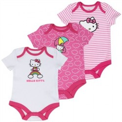 Hello Kitty Pink And White 3 piece Onesie Set Houston Kids Fashion Clothing Store