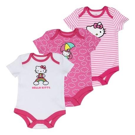 Hello Kitty Pink And White 3 piece Onesie Set Houston Kids Fashion Clothing Store