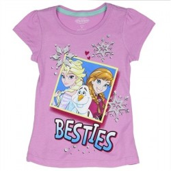Disney Frozen Anna Elsa And Olaf Beasties Lavender Girls Shirt