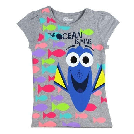 Disney Finding Dory Grey The Ocean Is Mine Short Sleeve Shirt