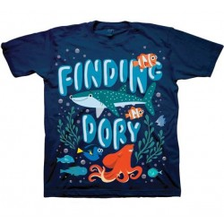 Disney Finding Dory Navy Blue Dory Destiny And Hank T Shirt