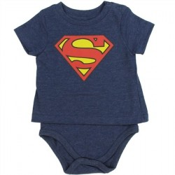 DC Comics Superman Heather Blue T Shirt Onesie