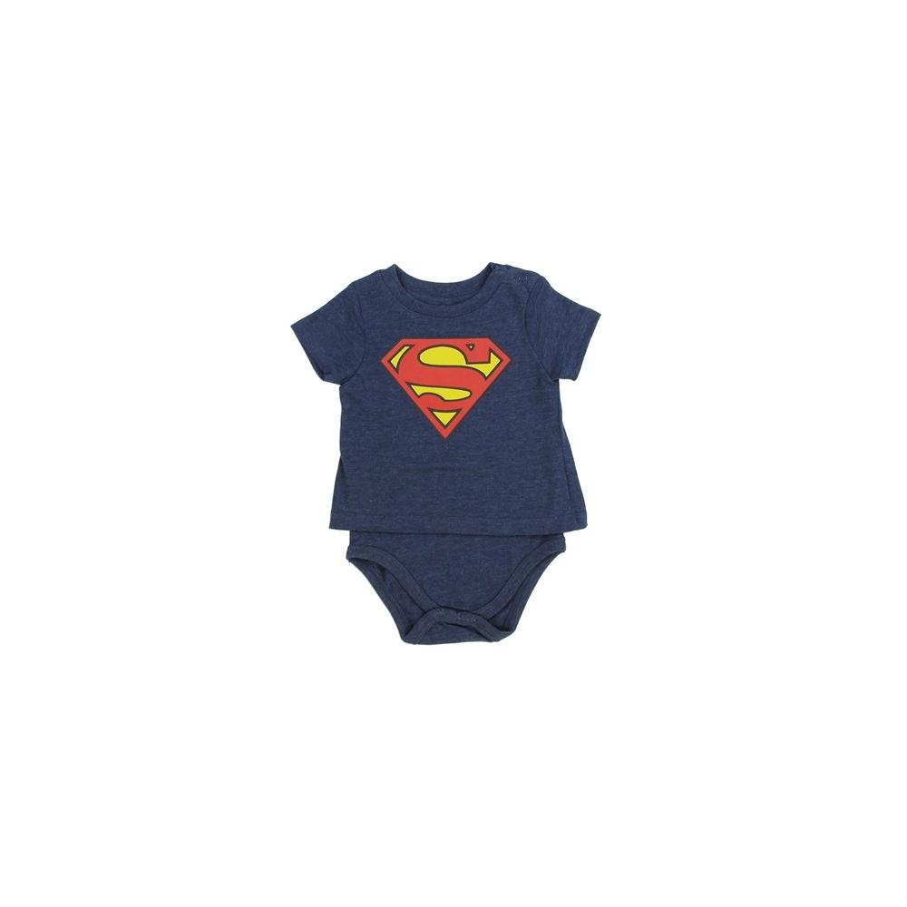 3d77012c3 factory outlets 41898 dd525 dc comics superman flocked logo baby ...
