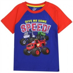 Nick Jr Blaze and The Monster Machines Give Me Some Speed Boys Shirt Houston Kids Fashion Clothing Store