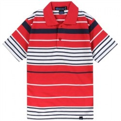 Street Rules Red And White Striped Boys Polo Shirt