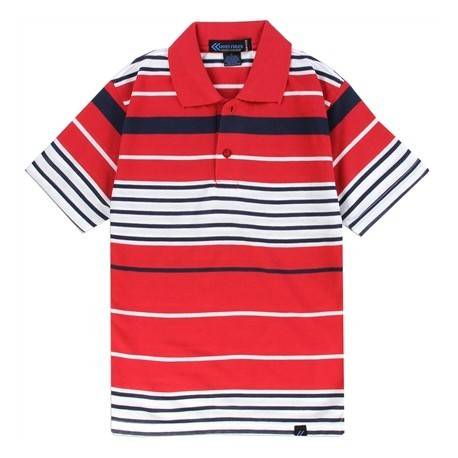 Street rules red and white striped boys polo shirt for Red white striped polo shirt