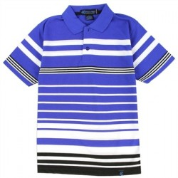 Street Rules Blue And White Striped Polo Shirt