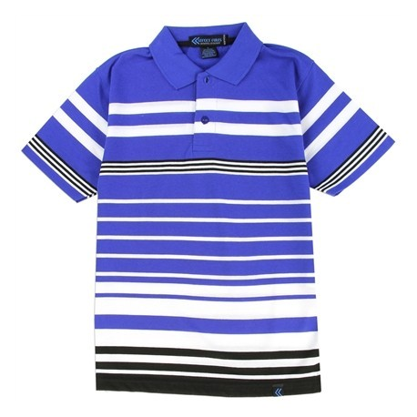 Street Rules Authentic Streetwear Blue And White Striped Polo Shirt Houston Kids Fashion Clothing