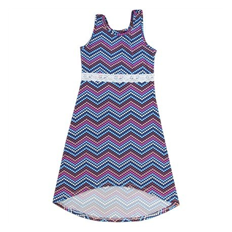 SWAK Navy Blue Print Hi/Lo Long Summer Dress