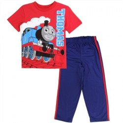 Thomas and Friends Toddler Boys 2 Piece Tricot Pants Set At Kids Fashion