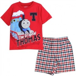Thomas And Friends The Original Thomas Red Shirt With Woven Plaid Shorts