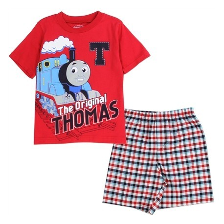 Thomas And Friends The Original Thomas Red Shirt With Woven Plaid Shorts Houston Kids Fashion Clothing