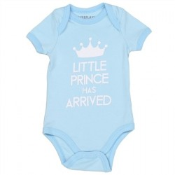 Weeplay The Little Prince Has Arrived Blue Boys Onesie