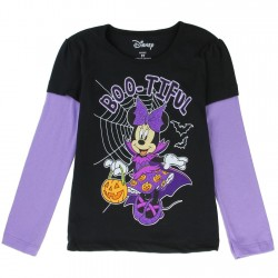 Disney Minnie Mouse Boo-Tiful Black Long Sleeve Toddler T Shirt Houston Kids Fashion Clothing
