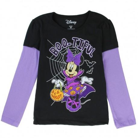 Disney Minnie Mouse Boo-Tiful Black Long Sleeve Toddler T Shirt Houston Kids Fashion Clothing