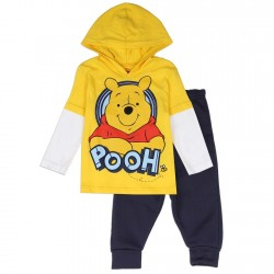 Disney Winnie The Pooh Fleece Pullover Hooded Top And Pants Kids Fashion Clothing