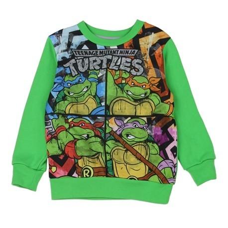 Teenage Mutant Ninja Turtles Toddler Sublimated Fleece Sweatshirt Kids Fashion