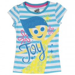 Disney Inside Out Joy Blue And White Stripe Top