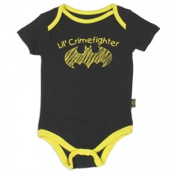 DC Comics Batman Lil Crimefighter Black Baby OnesieKids Fashion Baby Clothing