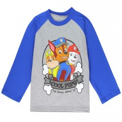 Nick Jr Paw Patrol Cool Pups No Bones About It Grey Long Sleeve Toddler Boys Shirt