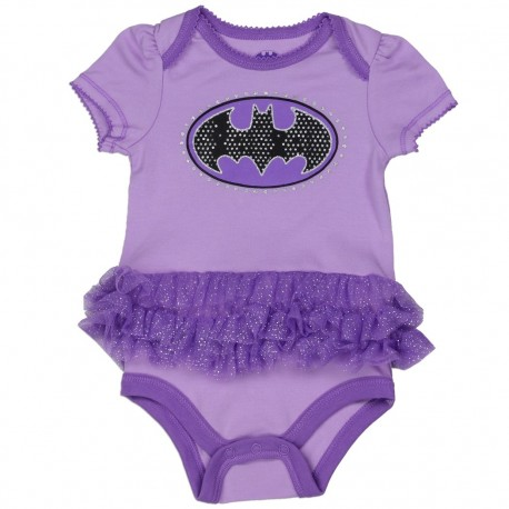 DC Comics Batgirl Purple Onesie With Black Bat Signal At Kids Fashion Clothing
