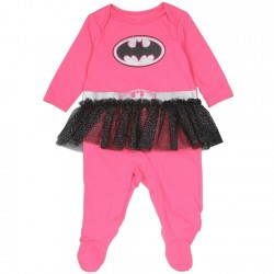 DC Comics Batgirl Costume Footed Sleeper With Tutu