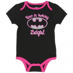 DC Comics Batgirl Hero In Training Black Onesie With Pink Trim Kids Fashion Clothing