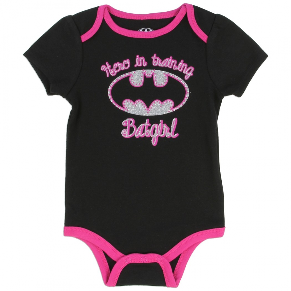 54c54aad6 DC Comics Batgirl Hero In Training Black Onesie With Pink Trim Houston Kids  Fashion Clothing. Loading zoom