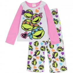 Teenage Mutant Ninja Turtles Fleece 2 Piece Pajama Set Kids Fashion Clothing
