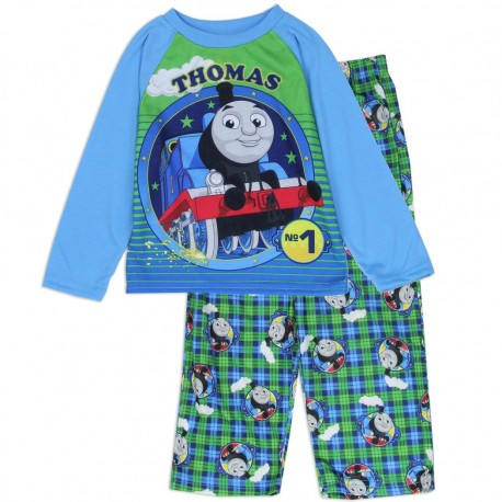 Thomas The Train No 1 Engine 2 Pc Blue Toddler Pajama Set At Houston Kids Fashion Clothing Store