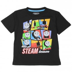 Thomas The Train The Steam Team Black Toddler Boys Shirt With The Engines Of Sodor
