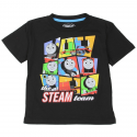 Thomas The Train The Steam Team Black Toddler Boys Graphic T Shirt With The Engines Of Sodor Kids Fashion