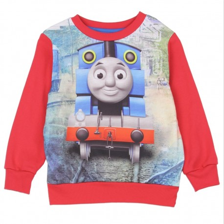 Thomas and Friends Sublimated Red Fleece Sweater Houston Kids Fashion Clothing Store