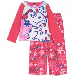 Peanuts Snoopy Belle 2 Pc Fleece Pajama Set