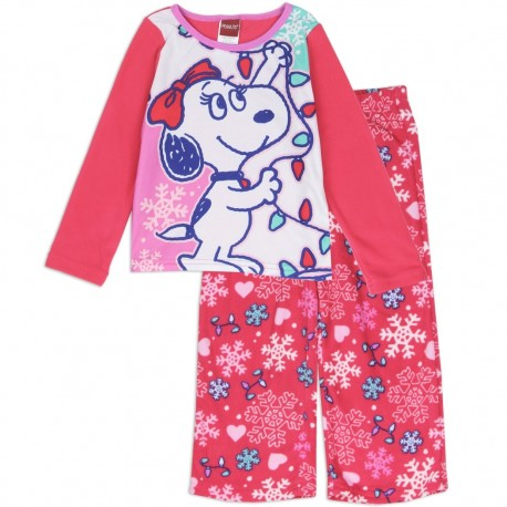 Peanuts Snoopy Belle 2 Pc Fleece Pajama Set Houston Kids Fashion Clothing